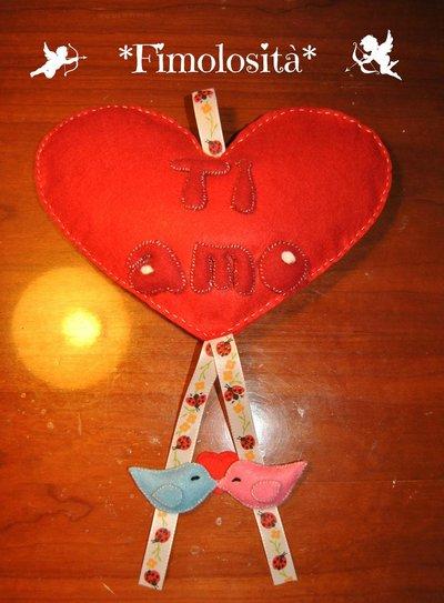 Cuore Ti Amo con uccellini :) (SOLO SU RICHIESTA)