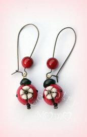 """orecchini ladybug-flower  """"SALDI"""""""
