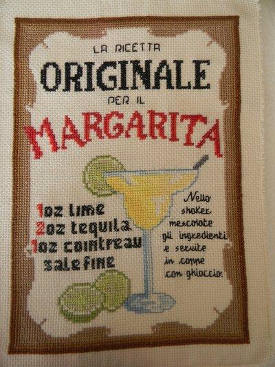 Quadro punto croce cocktail margarita