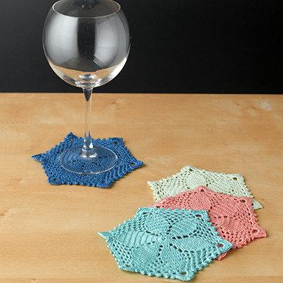 sottobicchieri colori assortiti set 6 pezzi