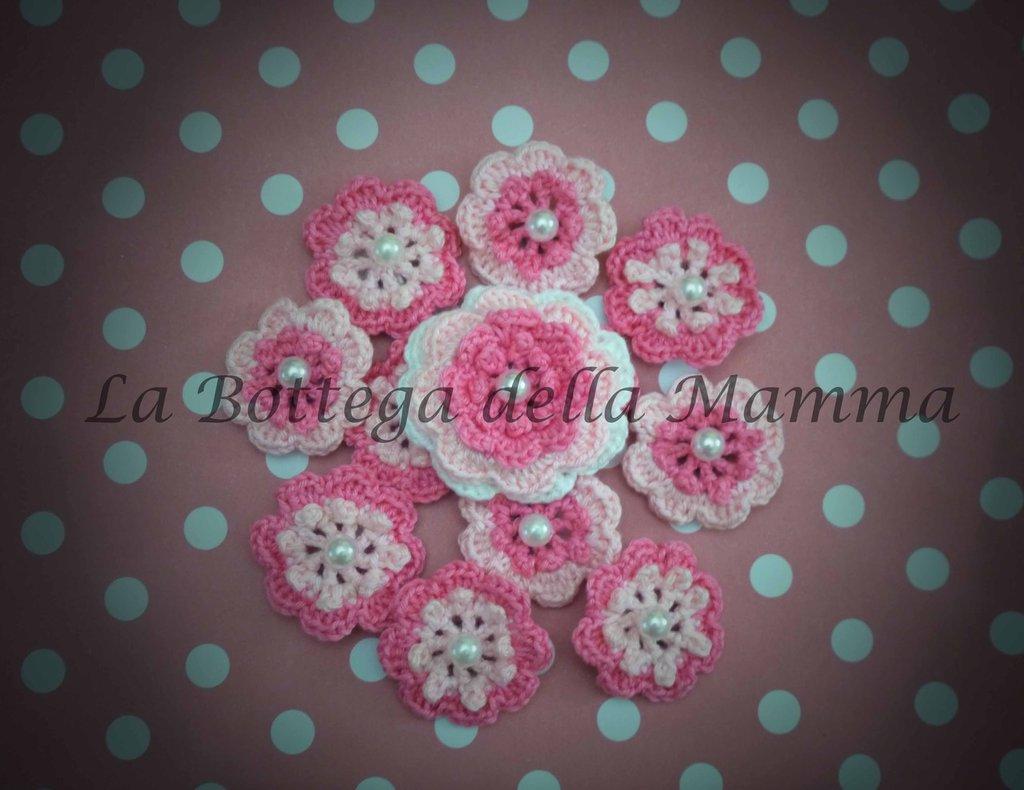 Bomboniera calamita fiore con perla rosa