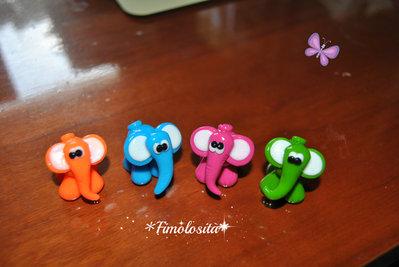 Elefantini in Fimo :) (SOLO SU RICHIESTA)