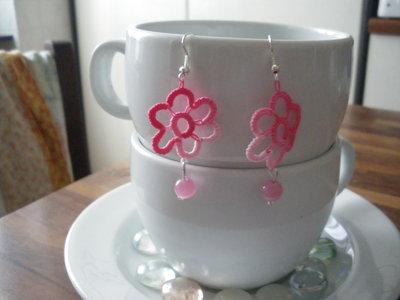 orecchini chiacchierino e perla vari colori.