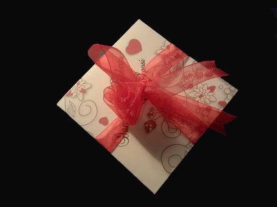 Partecipazione Origami con rosellina