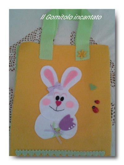 Borsa pannolenci Dolce coniglio di Pasqua