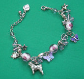 bracelet with dog breed pug