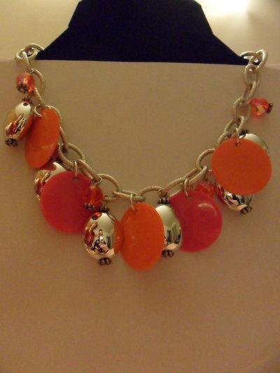 Collana arancio e rosa