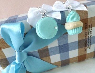 Orecchini macaron,cupcake e fiocchetto!!