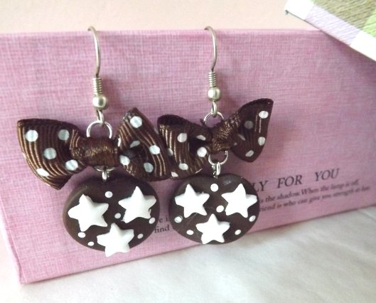 Orecchini Pan di stelle biscotto fimo kawaii