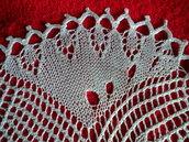 Centrotavola bomboniera realizzato a maglia con  quattro ferri