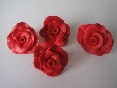 Rose grandi in Fimo