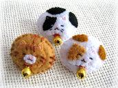 spilla feltro gatto per bambini,neko,adorabile gatto che dorme