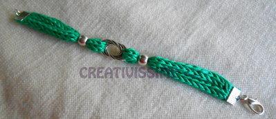 Braccialetto Triccottin  fatto a mano verde smeraldo