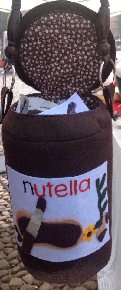 Borsa Nutella a secchiello  o borsa a secchiello Marmellata