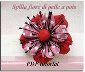 PDF Tutorial passo - dopo - passo Spilla di pelle a pois