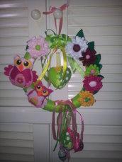 Ghirlanda Pasqua in feltro