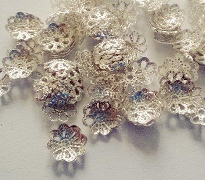 Coppette copriperla, per perle di 6-8mm, 100 coppette