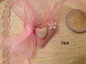 Cuore rosa in pasta di mais