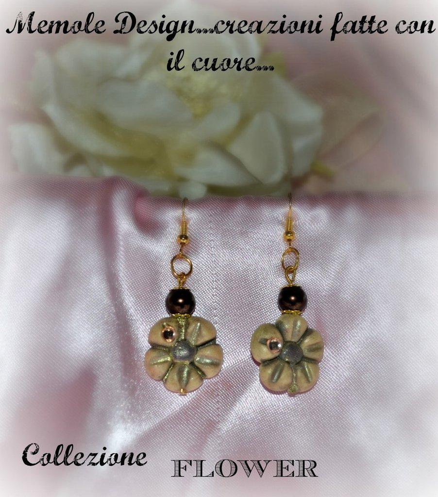 orecchini pendenti fiore memole design