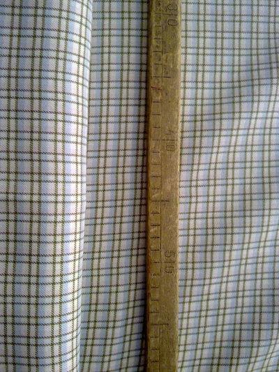 Taglio scampolo stoffa cotone felpato da un solo lato colori pastello decoro scacchi pastello vintage anni 70