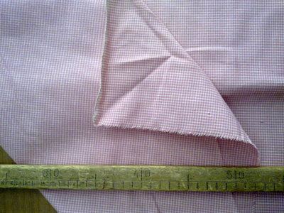 Taglio scampolo stoffa cotone felpato da un solo lato colori pastello rosa bianco vintage anni 70