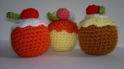 dolcetti amigurumi alla crema e frutta uncinetto creativo