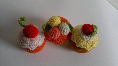 dolcetti amigurumi alla crema e frutta uncinetto creativo ...