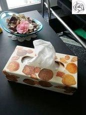 scatola portaveline a decoupage
