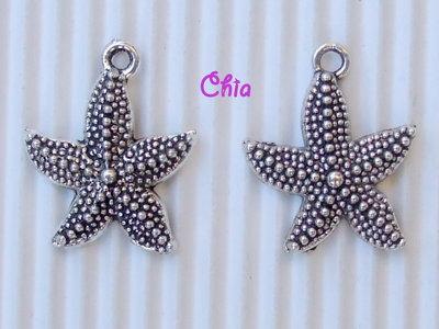 6 charms stella marina 23x20mm vend.