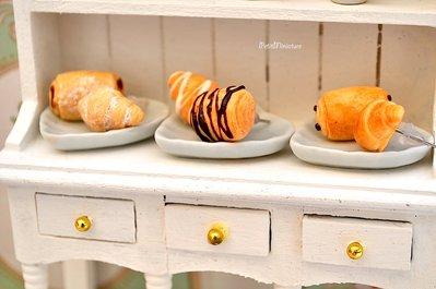Orecchini fimo croissants cibo gioielli orecchini a lobo con glassa farina e cioccolato