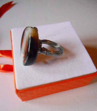 Anello Wire con Pietre e Perle