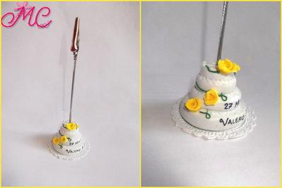 Bomboniera torta nuziale con portafoto