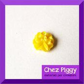 1 x cabochon - fiore giallo