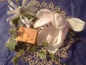 FLOWER BLENDED PURE NATURAL SOAP - con latte di capra e seta