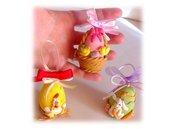 Uova pasquali, Uova di Pasqua da appendere (gallina, pulcini, coniglio)