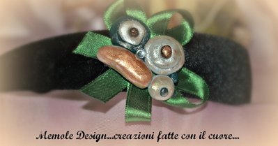 cerchietto con farfalla in fimo