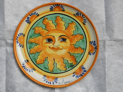 Piatto murale in ceramica fatto a mano