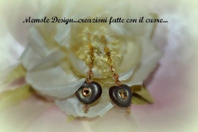 orecchini cuori in fimo Memole design