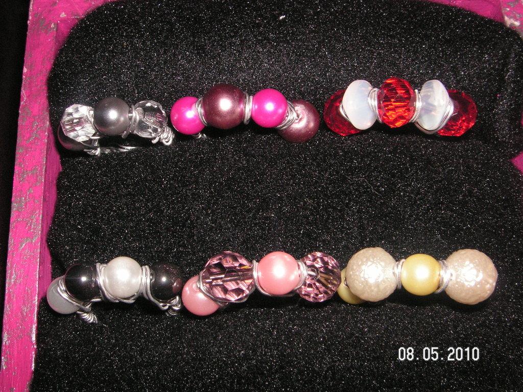 anelli wire e perle