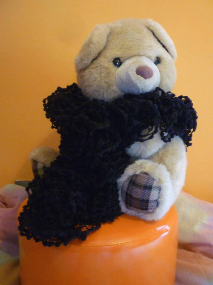 sciarpa moda nera