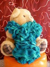 sciarpa moda sfumature d'azzurro