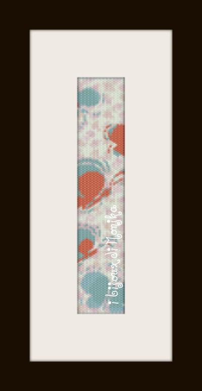 schema bracciale Farfalline in stitch peyote pattern - solo per uso personale