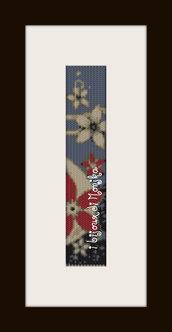 schema bracciale Fiori di stelle in stitch peyote pattern - solo per uso personale