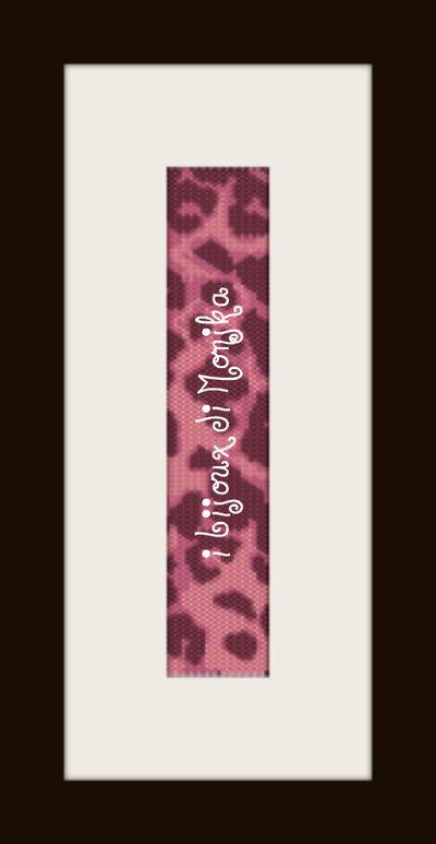 schema bracciale maculato cranberry in stitch peyote pattern - solo per uso personale