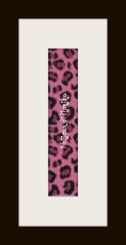 schema bracciale maculato fuchsia in stitch peyote pattern - solo per uso personale