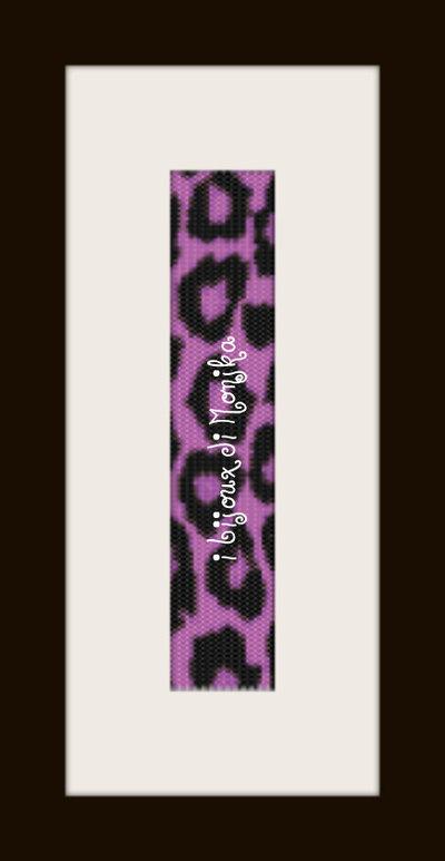 schema bracciale maculato lilla in stitch peyote pattern - solo per uso personale