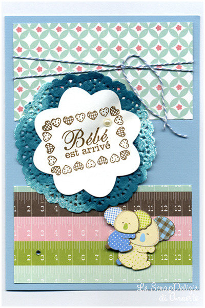 "Card nascita ""Bébé est arrivé"" (versione azzurra)"