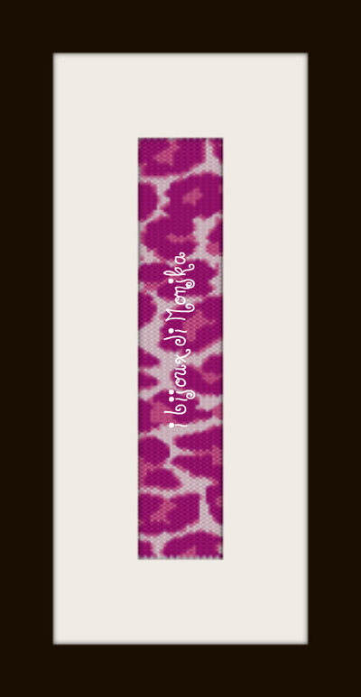 schema bracciale maculato rosa in stitch peyote pattern - solo per uso personale