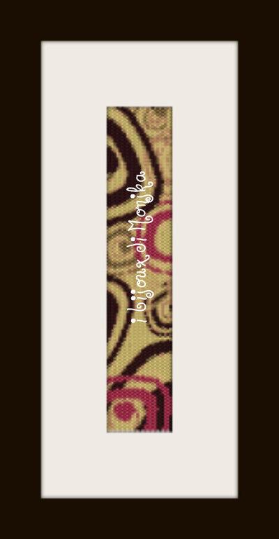 schema bracciale Quadri astratti in stitch peyote pattern - solo per uso personale