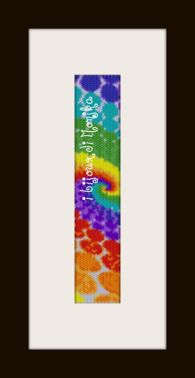schema bracciale Multicolor in stitch peyote pattern - solo per uso personale